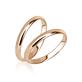 Тонкие обручальные кольца без камней в красном золоте